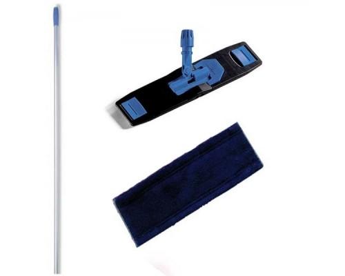 Euromop Швабра отжимная для влажной уборки с МОПом синяя микрофибра 40 см