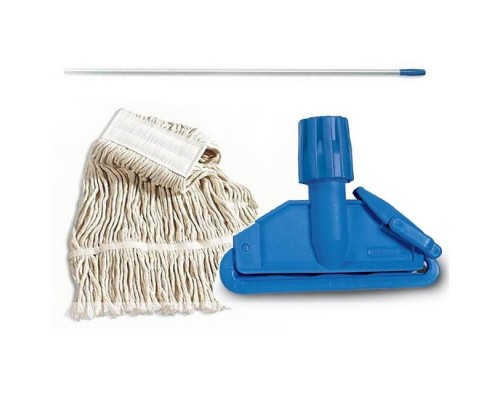 Euromop Швабра отжимная для влажной уборки с МОПом хлопок-полиэстер 400 гр (П)