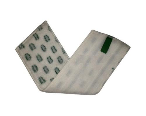 Euromop Плоский МОП 40 на липучках микрофибра с зеленым абразивом